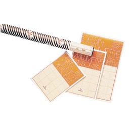 Papier dessin millimétré - A3 - bistre (photo)
