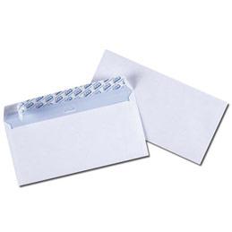 Enveloppes 110x200 GPV Qualité+ - extra blanches - 100g - auto-adhésives - boîte de 200 (photo)