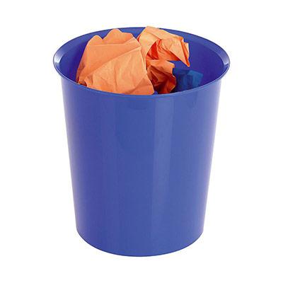 Corbeille à papier - 16 L - bleu (photo)