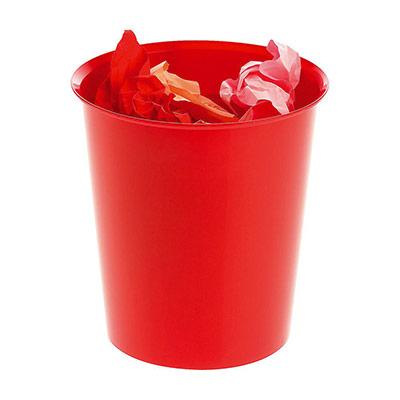 Corbeille à papier - 16 L - rouge (photo)