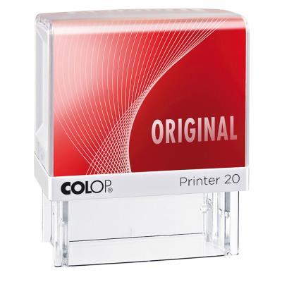 Tampon à formule Colop : ORIGINAL - encrage automatique - empreinte rouge 38 x 14 mm