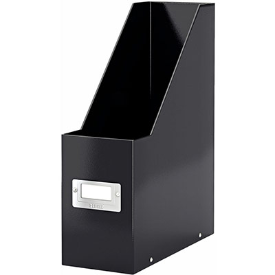 Porte-revues Leitz Click & Store en carton recouvert polypropylène - dos 10 cm - noir