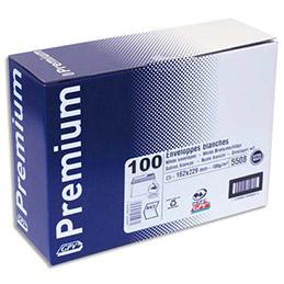 Boîte de 100 enveloppes GPV - 162x229mm - blanches - 100g - auto-adhésives - Qualité + (photo)