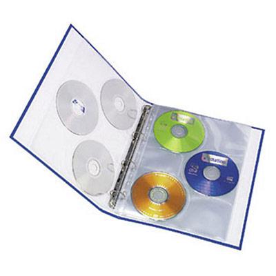 Pochette lisse pour CD/DVD - A4 - polypropylène - 11 trous - transparente - lot de 10