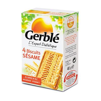 Biscuits diététiques Sésame - boîte de 4 - paquet 18 x 46 grammes (photo)