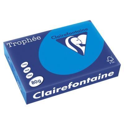 Papier Trophée - bleu turquoise - teinte intense - 80 g - A4 - ramette de 500 feuilles
