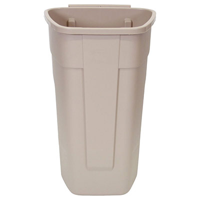 Conteneur carré à roues Rubbermaid - corps beige - 100 L (photo)