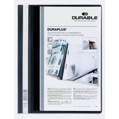 Chemise de présentation à lamelles personnalisable Durable Duraplus - 24 x31 cm - noir