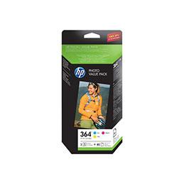 hp 364 series photo value pack 1 jaune cyan magenta cartouche imprimante kit papier. Black Bedroom Furniture Sets. Home Design Ideas