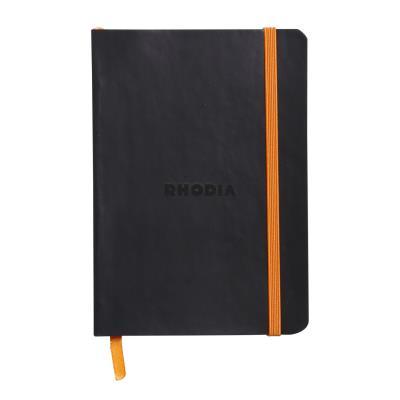 Carnet souple Rhodiarama A6 - 10,5 x 14,8 cm - 144 pages lignées de 90 g/m² - couverture noire