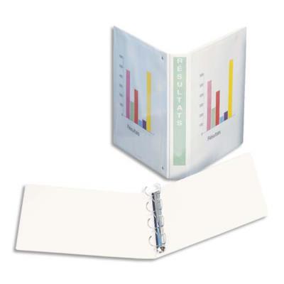 Classeur à couverture personnalisable sur trois faces Esselte - en PVC blanc - dos de 5 cm