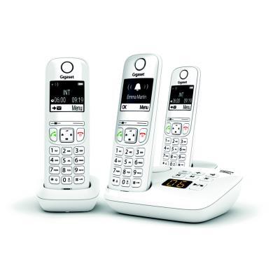 Téléphone sans fil AS690A Trio avec répondeur Gigaset - blanc (photo)