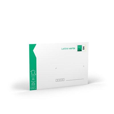 Enveloppes pré-timbrées - lettre verte - 162 x 229 mm - 50 g - soumis à conditions - lot de 10