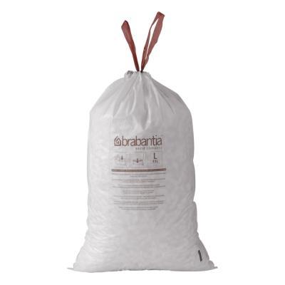 Sac poubelle - blanc - 10/12 L - rouleau de 20 sacs - rouleau de 20 sacs