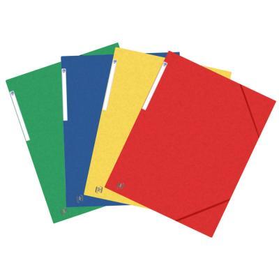 Chemises 3 rabats à élastiques Oxford Top File + A3 - coloris assortis