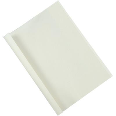 Couvertures thermiques Fellowes - A4 - 12 mm - 150µ+200g - blanches - boîte de 100