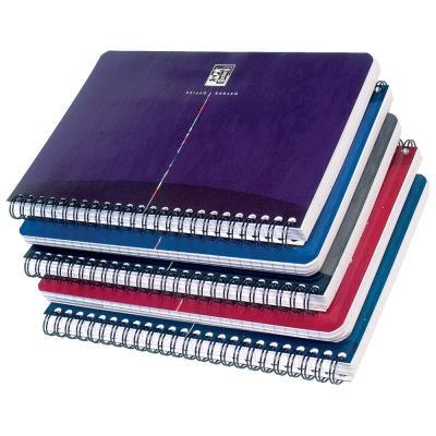 Carnet Oxford Office Essentials - A4 - double spirale - couverture souple - réglure seyès - 100 pages - couleurs assorties - compatible SCRIBZEE - bloc 70 feuilles
