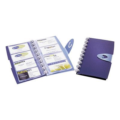 Classeur pour cartes de visite Durable Duralook - 96 cartes (photo)