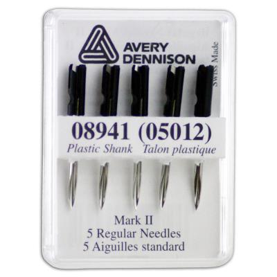 Aiguilles avec couteau intégré pour pistolet textile standard Avery - boîte de 5