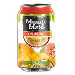 Jus de fruit MINUTE MAID saveur tropical - Canette 33cl (photo)