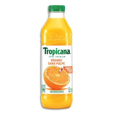 Jus d'orange Tropicana - bouteille de 1 L - sans pulpe (photo)