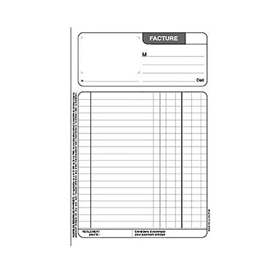 Manifold Le Dauphin - autocopiant - facture 210x297 - 50 feuillets - tripli