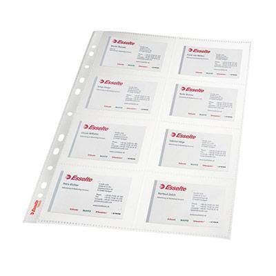 Pochette perforée lisse - 8 compartiments - A4 - polypropylène 105 microns - 11 trous - transparent - lot de 10 (photo)