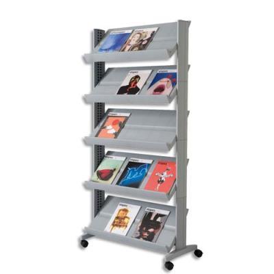 Présentoir mobile de documents simple face 825 x 165 x 382 cm