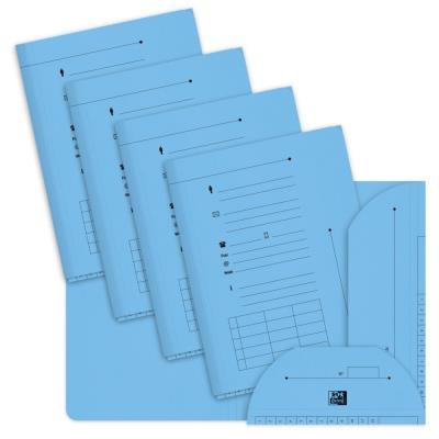Chemise sous-dossier 2 rabats en carte - capacité 200 feuilles A4- bleu pastel - paquet 25 unités
