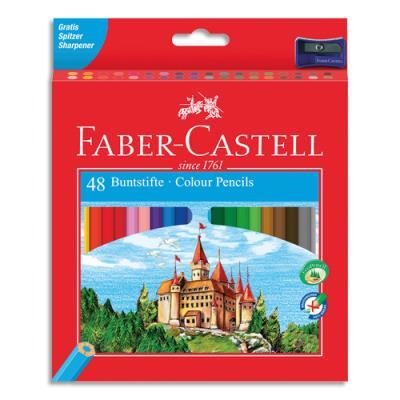 Etui de 48 crayons de couleur Château assortis + un taille-crayon (photo)