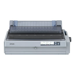 Epson LQ 2190N - Imprimante - monochrome - matricielle - 420 mm (largeur) - 10 cpi - 24 pin - jusqu'à 576 car/sec - parallèle, USB, LAN (photo)