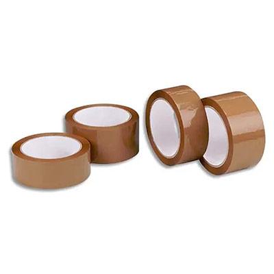 Ruban adhésif d'emballage 1er prix - polypropylene havane - 42 microns - 50x66m
