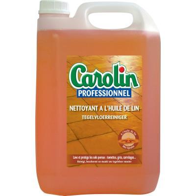 Nettoyant pour sols carrelés Carolin - à l'huile de lin - bidon de 5L (photo)