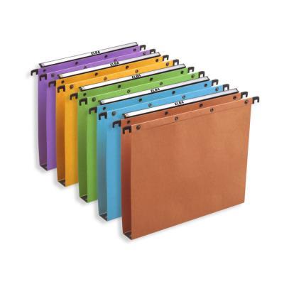 Dossiers suspendus AZO en carte Canson coloris assortis - pour tiroir - fond 15 mm