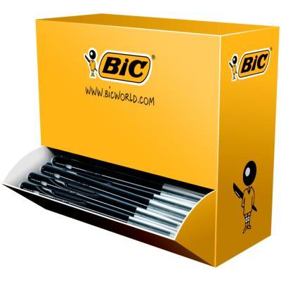Pack 90 stylos bille Bic M10 noir + 10 offerts - pointe moyenne. (photo)
