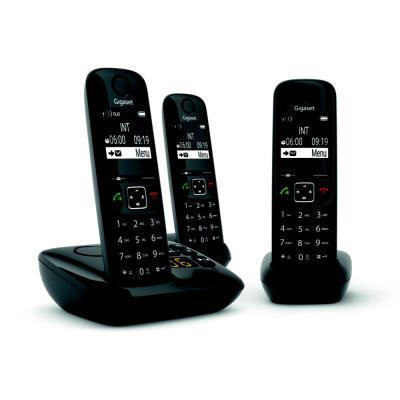 Téléphone sans fil AS690A Trio avec répondeur Gigaset - noir (photo)