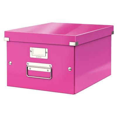 Boîte Leitz Click & Store Taille M - format A4 - capacité 17L - rose
