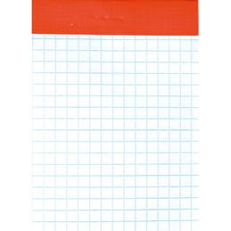 Bloc de bureau - sans couverture - 7,4x10,5 cm - 100 feuilles - 5x5 - 60 g (photo)