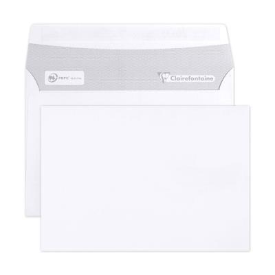 Enveloppe extra blanche C6 Clairalfa 114 x 162 mm 80g - sans fenêtre bande autoadhésive - boîte 500 unités