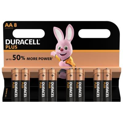 Pile Duracell AA LR6 Plus Power alcalines - 1,5V - blister de 8 piles