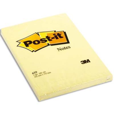 Bloc Notes grand format Post'it - 102 x 52 mm - uni - jaune (photo)