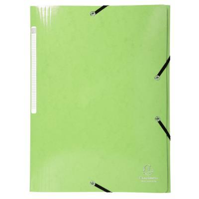 Chemise à 3 rabats et à élastiques A4 Exacompta Iderama - 300 feuilles - 240 x 320 mm - carte avec polypropylène - citron vert