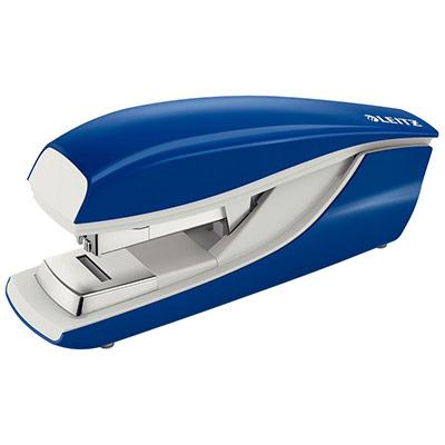 Agrafeuse Leitz 5523 technologie flat clinch - pour agrafes 24/6 et 26/6 - bleue - capacité 40 feuilles