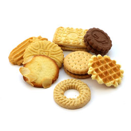 Boite de 125 biscuits en emballage indviduel - goûts assortis  - boîte de 745g (photo)
