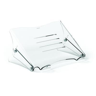 Support pour ordinateur portable Fellowes Clarity - réglable en hauteur - en acrylique transparent