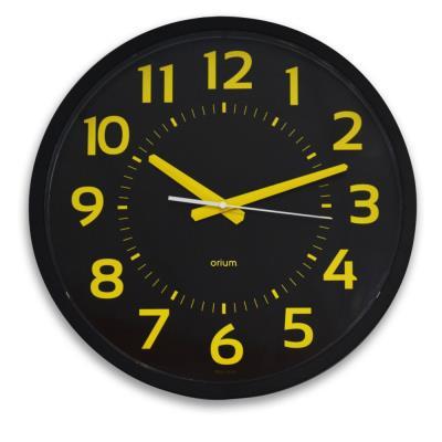 Horloge analogique murale silencieuse à quartz Contraste Orium - diamètre 40 cm - noir (photo)