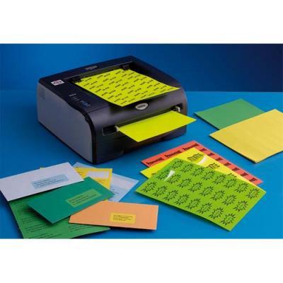Boite de 400 étiquettes couleur Techmay Logetiq - 105x148,5 mm - vert vif - 100 planches A4 (photo)