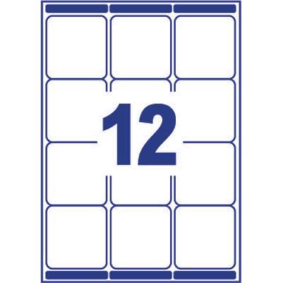 Boîte de 1200 étiquettes Avery  - laser - blanc - 63.5x72 - L7164 (photo)