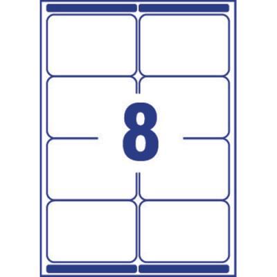 Etiquette adresse Avery L7165 - impression laser - opaque - 99,1 x 67,7 mm - blanc - boîte de 800 (photo)