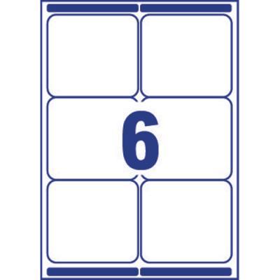 Etiquette adresse Avery L7166 - impression laser - 99,1 x 93,1 mm - blanc - 600 étiquettes (photo)